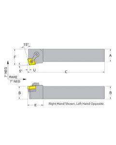 Dorian 50066 MCKNR12-4B  RH Toolholder for CNM_432 inserts