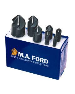 MA Ford 64T100003, 4 PC 90 Deg CountersinkSet 1/4, 1/2, 3/4, 1 TiN Coated