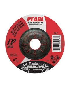 Pearl Redline DCRED45 4-1/2 x 1/4 x 7/8 Aluminum Oxide MAX A.O. Type 27 Grinding Wheels (Pack of 25)
