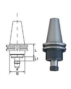 DORIAN CAT40 1.00 x  1.75 Shell Mill Holder, 45123