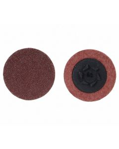 "Merit 2"" Coated Quick Change Disc, TP Snap-On/Off Type 3, 36 Grit, Extra Coarse, AlumOxide, 100 PK, 69957399706"