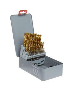 "29-PC Gold-P HSS Drill Set, 1/16""-1/2"" by 64ths, YG-1, D1GP182SET"
